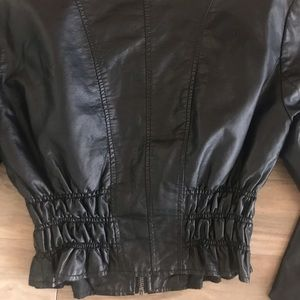 bebe Jackets & Coats - Bebe leather crop jacket s